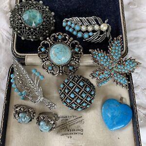 Vintage 1950s/60s Turquoise Costume Jewellery Good Condition