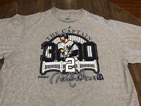 Derek Jeter The Captain New York Yankees XL Gray T Shirt MLB Baseball Majestic