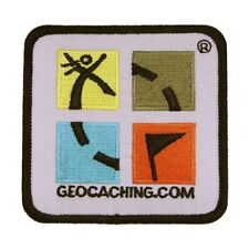 Retro Patch - Aufnäher farbiges Geocaching Logo Groundspeak