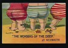 Dorset WEYMOUTH Wonders of the Deep McGill Comic 1915 PPC