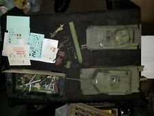"2 Vintage Unfinished Plastic Tank Model Kits 9-1/2"" & 8"""