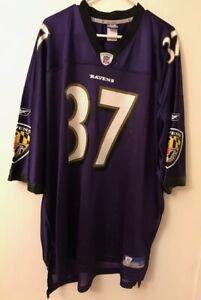 Men's Reebok NFL Baltimore Ravens Deion Sanders # 37 Football Jersey 4XL Purple