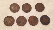 Lot of 7 - US Indian Head Pennies - 1899, 1901, 1902, 1904, 1905, 1906, 1907