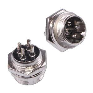 4-Pôles Connecteur Femelle pour Microphone CB Ham Radio Châssis Prise 4-Pin
