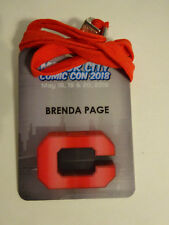 Motor City Comic Con 2018 Media Guest Badge Brenda Page