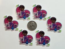 6 Pcs Lot dr mcmuffin Flatback Resin Cabochon Hair Bow Center Supply.