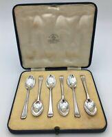 Art Deco Mappin & Webb Hallmarked Silver Coffee Spoons Sheffield 1935