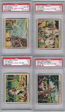 1934 V256 Tarzan Crystal Vault of Isis Trading Cards Lot of 19 PSA Graded Cards