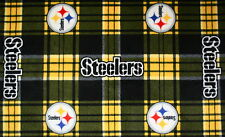 1-NFL PITTSBURGH STEELERS PRINTED FLEECE BODY PILLOW CASE-CHOOSE-6 PRINTS 52X20