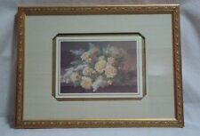 """Vintage Raoul M de Longpre Fils Print Lilacs and Flowers Framed Matted 15"""" X 11"""""""