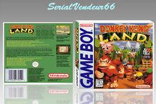 """Boitier du jeu """"DONKEY KONG LAND"""", Game Boy. Nintendo. PAL FR. HD. SANS LE JEU."""