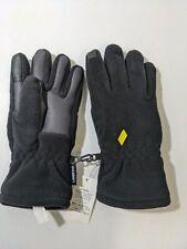 Unisex Lands End EZ Touch Gloves Medium Black fleece Polyester  NWT - Dirt Mark!