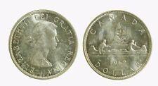 pcc2039_10) CANADA - SILVER 1 DOLLAR 1962   - ELIZABETH II