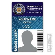 PERSONALISED Printed Novelty ID- GOTHAM City Police Dept - TV Series Batman Pass