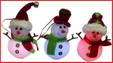 6x Light Up SNOWMEN Statue Ornament Decoration Christmas Birthday ~UNIQUE