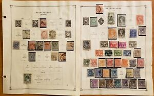 Netherlands (Holland)Stamp Lot used hinged two sided pages 1864-1940 90 stamps