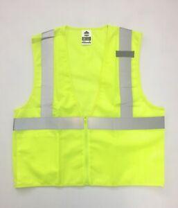 Ergodyne GloWear Economy Hi-Vis Reflective Safety Vest with Zipper 8210Z