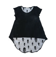 Honey Punch With Skull Lace Black Sleeveless Top Size Small