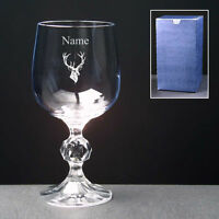STAG Personalised Engraved Wine Glass FREE ENGRAVING 2 Sizes New Wedding Gift