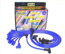 Taylor Cable 74602 Spark Plug Wire Set; Spiro Pro Blue 8mm Spiral Core for Chevy