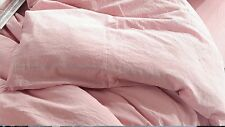 EIKEI WASHED COTTON CHAMBRAY COTTON CANDY PINK KING DUVET SET (COMFORTER COVER)