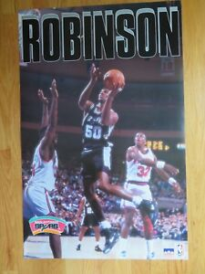 1992 Starline DAVID ROBINSON Poster SAN ANTONIO SPURS Patrick Ewing