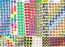 500 reward stickers - assorted designs - Great kids party favours ,reward charts