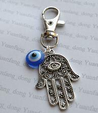 Blue Evil Eye, Hamsa Hand, Fatima  Keyring,Handbag,Bag Purse Charm Zip Puller