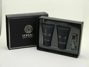 Versace Pour Homme After Shave Balm 25ml + Shampoo 25ml + EDT 1.6ml Vial