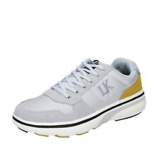 scarpe uomo LUMBERJACK 40 EU sneakers grigio tessuto pelle BT715-40 f6fb4a5cc68