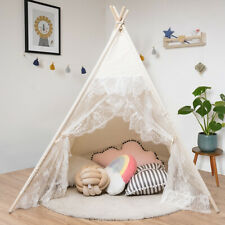Kids Lace Teepee Tent Folding Children Playhouse W/Bag Indoor Outdoor Christmas