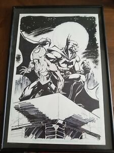 Spider-Man and Batman Commission by Whilce Portacio. Incredible!!!!