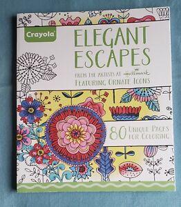 Crayola Coloring Book For Adults ELEGANT ESCAPES 80 Unique Designs NEW