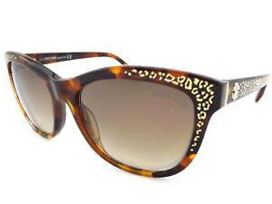 Roberto Cavalli Tsze Women's Sunglasses Dark Havana / Brown Gradient RC991 52G