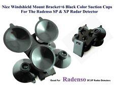 1 R7 Uniden Radar Detectors Windshield Mount Bracket 6 BLK Suction Cups