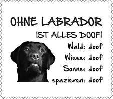 """Displayreinigunstuch Labrador SCHWARZ """"ALLES DOOF"""" Brillenputztuch Hund GT0004"""