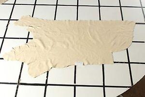 """Norman Summer"" Beige Scrap Leather Hide Approx. 9.5 sqft. L13A10-7"