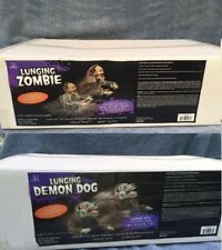 Halloween LUNGING ZOMBIE DEMON MAD DOG & REAPER Props YOU GET BOTH FREE SHIPPING