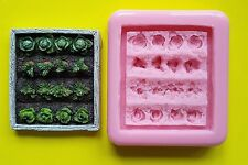 VEGETABLE PATCH SILICONE MOULD FOR CAKE TOPPERS, CLAY ETC