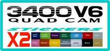 3400 V6 Quad Cam stickers for Toyota Prado
