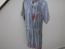 NWT's Tommy Hilfiger beautiful blue stripe tassel tie s/s dress 1X