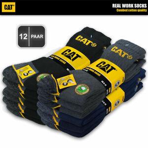 12 Paar CAT® CATERPILLAR REAL WORK Arbeitssocken Business Socken Strümpfe🧦35-50