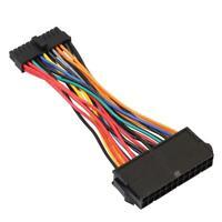 ATX PSU Standard 24Pin Female to Mini 24P Male Internal Power Cable Wire SS6