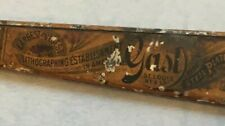 Rare 1900's ? VTG Metal LETTER OPENER Gast St Louis Lithographing Bank Supplies