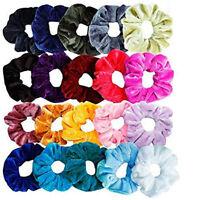 46PC Velvet Hair Bands Scrunchie Elastic Scrunchy Ponytail Holder Velveteen Lot