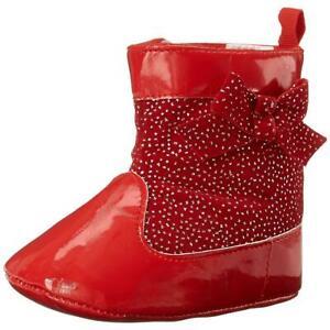Laura Ashley Infant Girls Red Patent Booties 2M