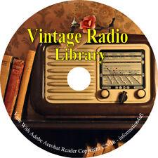 Vintage Radio Library 28 Books on CD Servicing Handbook Receiving Telegraphy