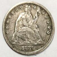 1859 Liberty Seated Half Dime 5c XF