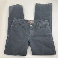 J. Crew Womens Corduroy Pants Size 10 Gray Bootcut Flat Front Low Rise Trousers
