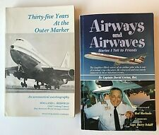 2 Aviation Books Airways And Airwaves + 35 Years At The Outer Marker by Redfield
